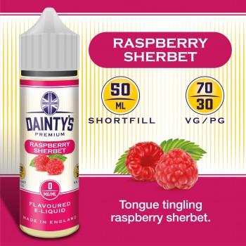 Raspberry Sherbet - Daintys E Liquid Shortfill 50ml 0mg