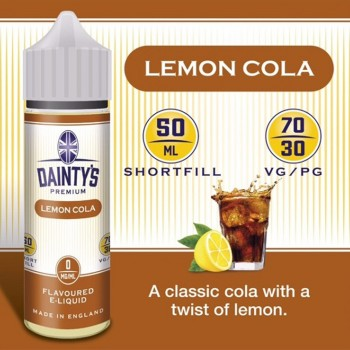 Lemon Cola - Daintys E Liquid Shortfill 50ml 0mg