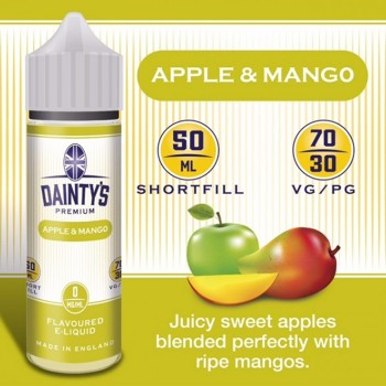 Apple And Mango- Daintys E Liquid Shortfill 50ml 0mg