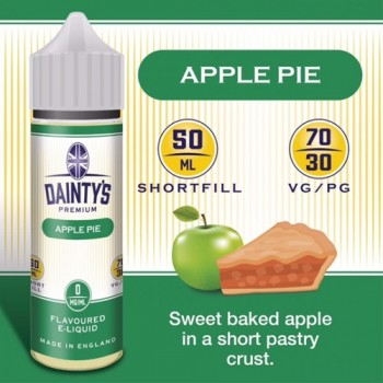Apple Pie - Daintys E Liquid Shortfill 50ml 0mg