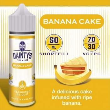 Banana Cakel - Daintys E Liquid Shortfill 50ml 0mg