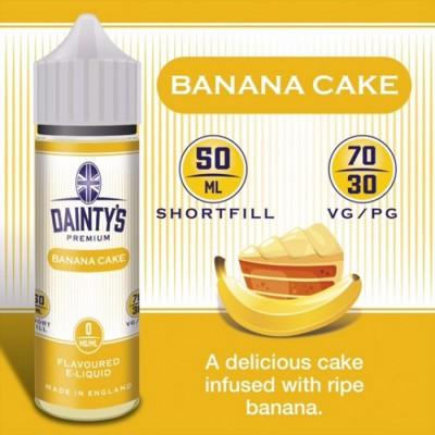 Banana Cake - Daintys E Liquid Shortfill 50ml 0mg