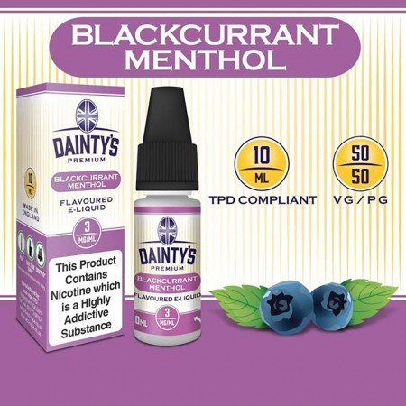 Blackcurrant Menthol E Liquid - Daintys