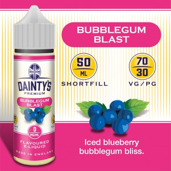 Bubblegum Blast - Daintys E Liquid Shortfill 50ml 0mg