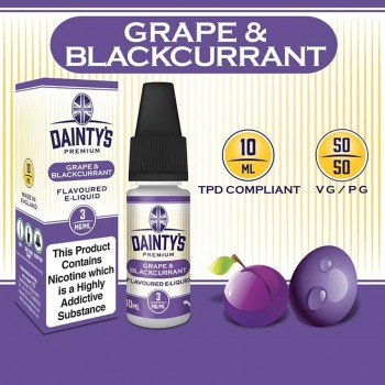 Grape & Blackcurrant E Liquid - Daintys