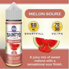 Melon Sourz - Daintys E Liquid Shortfill 50ml 0mg