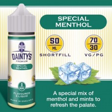 Special Menthol - Daintys E Liquid Shortfill 50ml 0mg