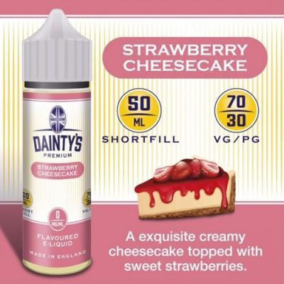 Strawberry Cheesecake - Daintys E Liquid Shortfill 50ml 0mg