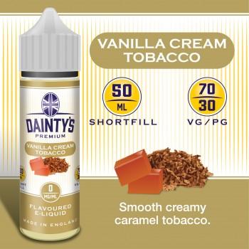 Vanilla Cream Tobacco - Daintys E Liquid Shortfill 50ml 0mg