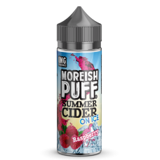 Moreish Puff Summer Cider On Ice- Raspberry - 0mg 100ml Shortfill E-liquid