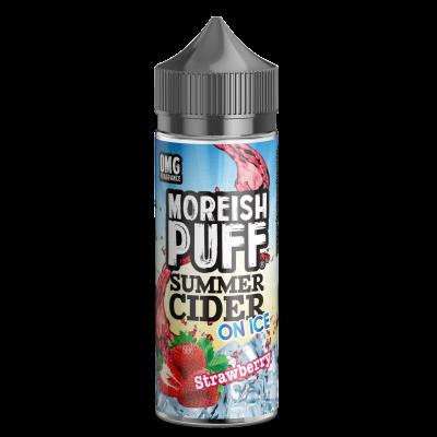 Moreish Puff Summer Cider On Ice- Strawberry - 0mg 100ml Shortfill E-liquid